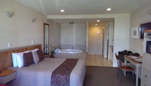 Pebble Beach Motor Inn - Yes the Jacuzzi is almost as large as the king sized bed.