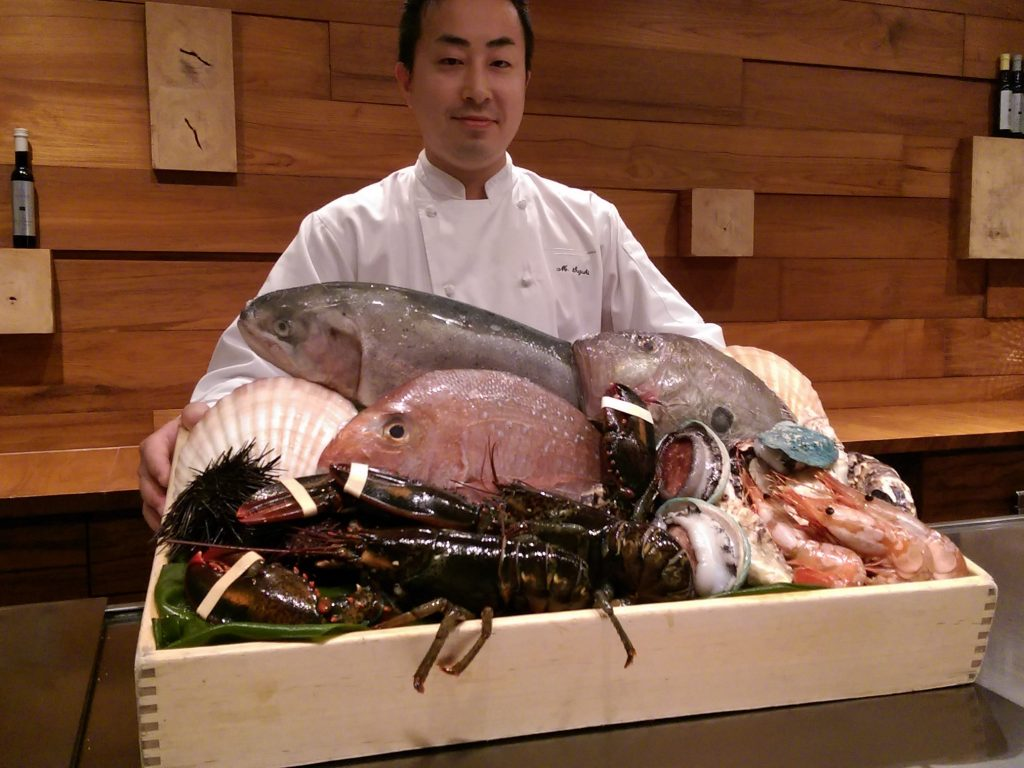 Waku Ghin Chef with Fish