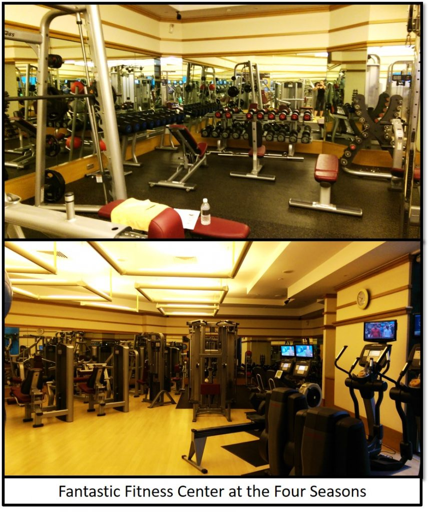 Gym at the Four Seasons Singapore