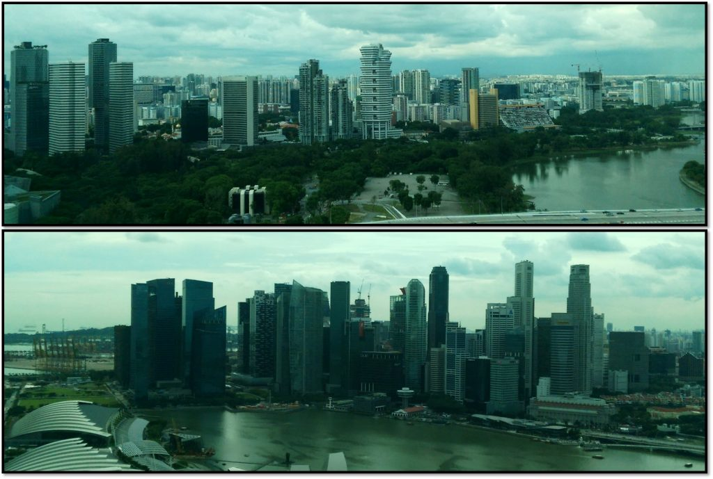 Views of Singapore from the Singapore Flyer